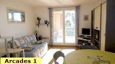 Location particuliers centre ville de Saint Aygulf 83 Var 4 couchages, les Arcades de la Méditerranée