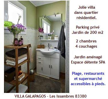 Saint Aygulf, les Issambres, 83380, villa avec piscine, 2 chambres, proche plage de la Gaillarde, la Garonnette, linge draps fournis, climatisation, internet gratuit, espace détente spa, parking privé